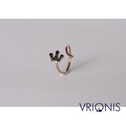 R240rH - Ασημένιο Δαχτυλίδι 925 Επιχρυσωμένο με Ροζ Χρυσό
