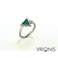 R147wA | Επιπλατινωμένο Ασημένιο Δαχτυλίδι