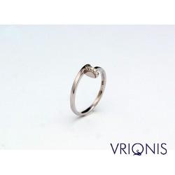 R161wC | Επιπλατινωμένο Ασημένιο Δαχτυλίδι