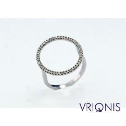 R162wC | Επιπλατινωμένο Ασημένιο Δαχτυλίδι