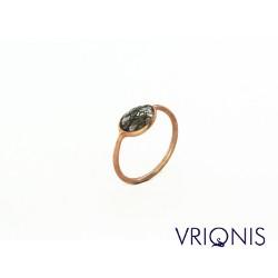 R203gG | Ασημένιο Δαχτυλίδι Επιχρυσωμένο με Κίτρινο Χρυσό