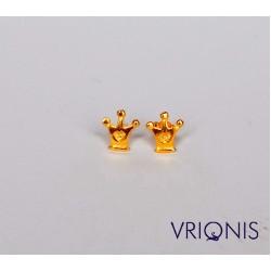 E173yA - Ασημένιο Σκουλαρίκι Επιχρυσωμένο με Κίτρινο Χρυσό